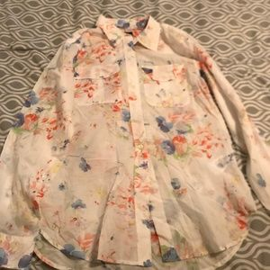 Ralph Lauren Blouse white with flowers